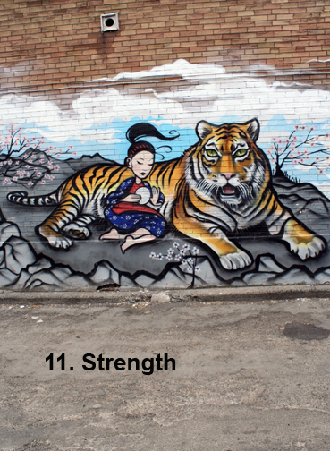 Toronto Graffiti Tarot - #11 Strength (ver.2)