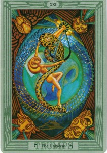 #21 The Universe from the Thoth Tarot by Aleister Crowley and Lady Frieda Harris
