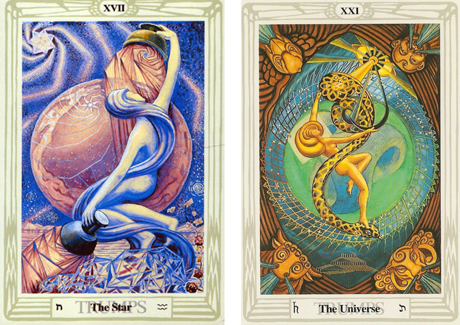 The Star and the Universe from the Thoth Tarot - Crowley/Harris