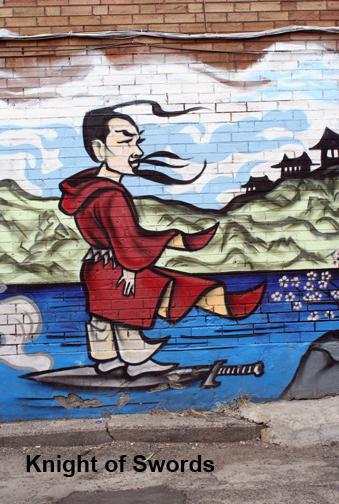 Toronto Graffiti Knight of Swords