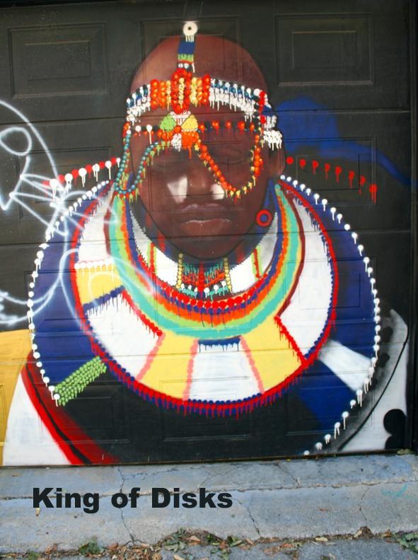 Graffiti King of Disks - Toronto Graffiti Tarot (in progress)