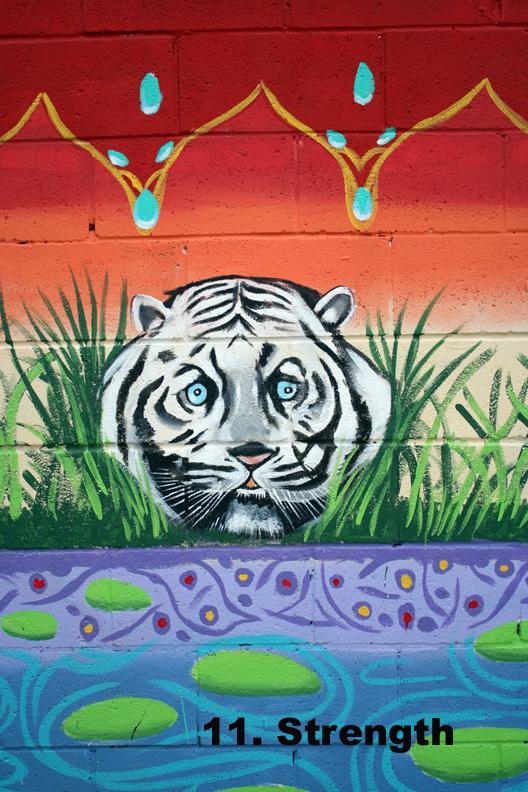 #11 Strength - Toronto Graffiti Tarot (wip)