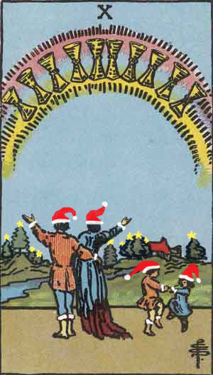 RWS 10 of Cups - Christmas version