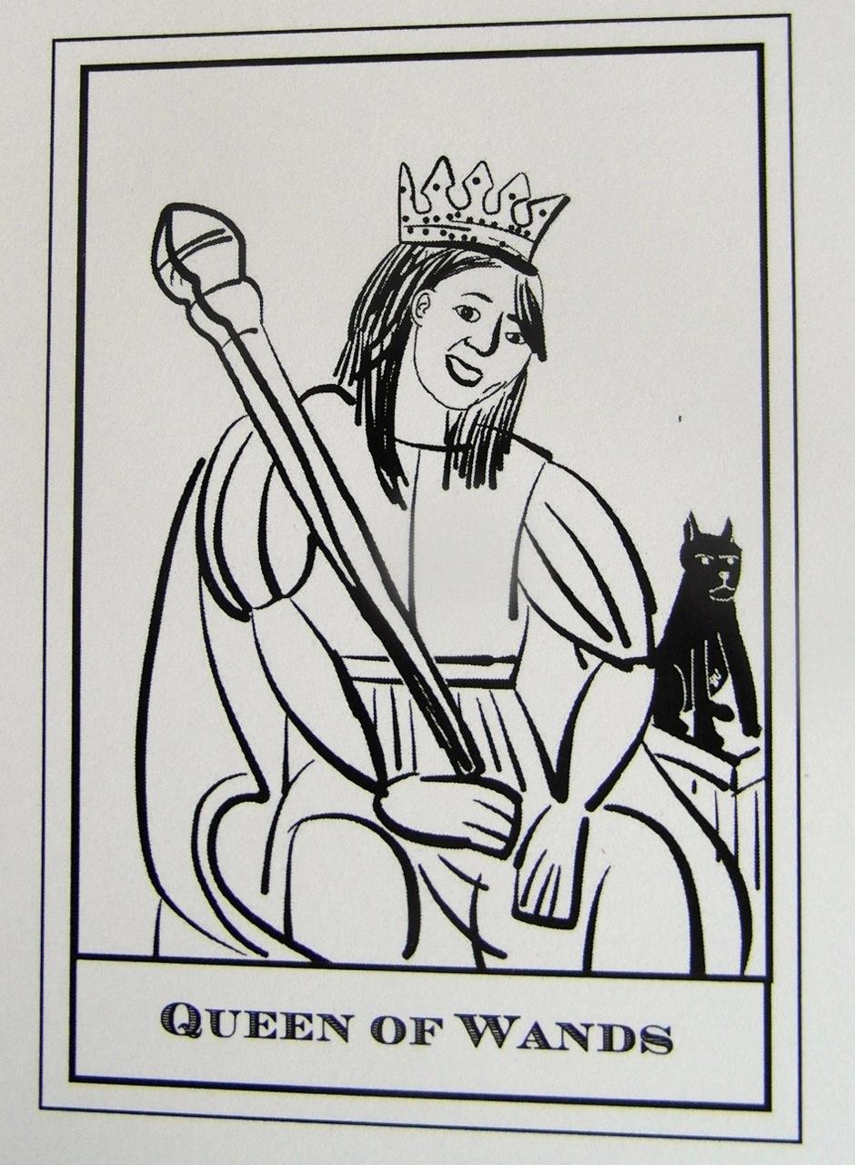 Queen of Wands Sp.Ed. - Tarot Waiting To Happen by Andrew McGregor