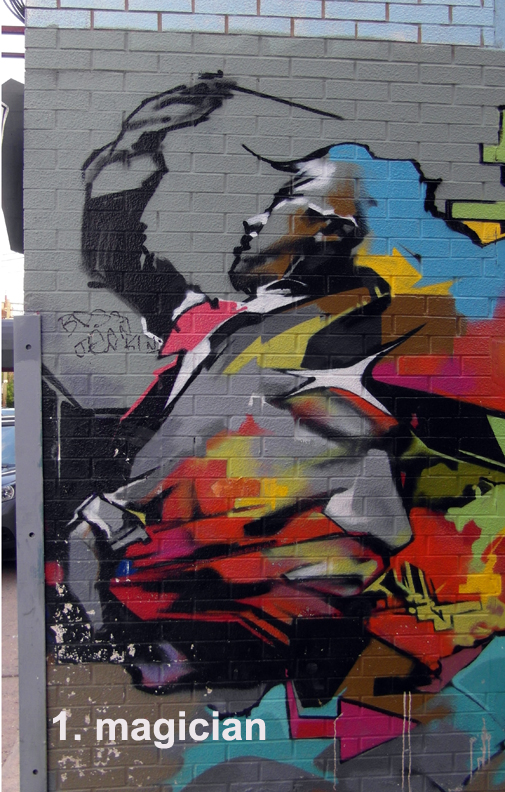#1 - The Magician - Toronto Graffiti Tarot