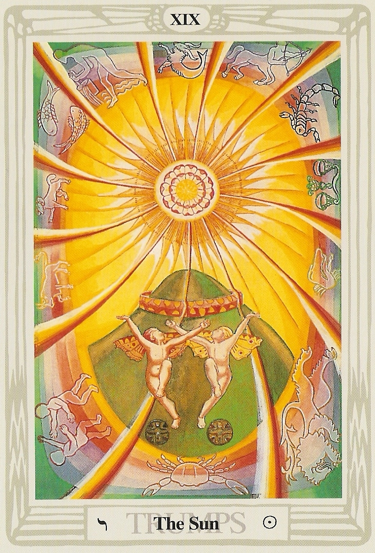 #19 The Sun - Thoth Tarot by Aleister Crowley and Lady Frieda Harris