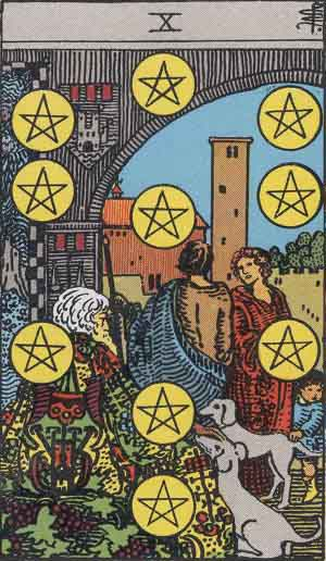 RWS 10 of Pentacles - Smith and Waite