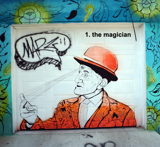 #1 - the magician - toronto graffiti tarot