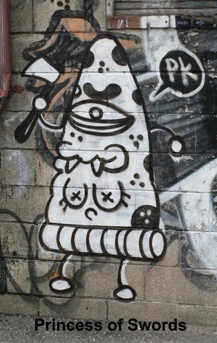 Princess of Swords - Toronto Graffiti Tarot