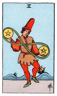 RWS 2 of Pentacles