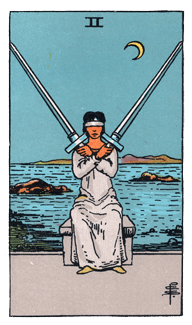 2 of Swords - Rider Waite Smith Tarot