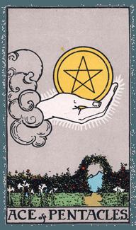Ace of Pentacles - Rider Waite Smith Tarot