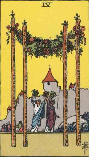 4 of Wands - Rider Waite Smith Tarot