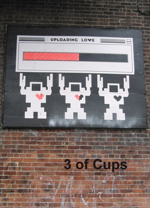 3 of Cups - Toronto Graffiti Tarot