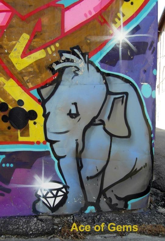 Ace of Disks/Gems - Toronto Graffiti Tarot
