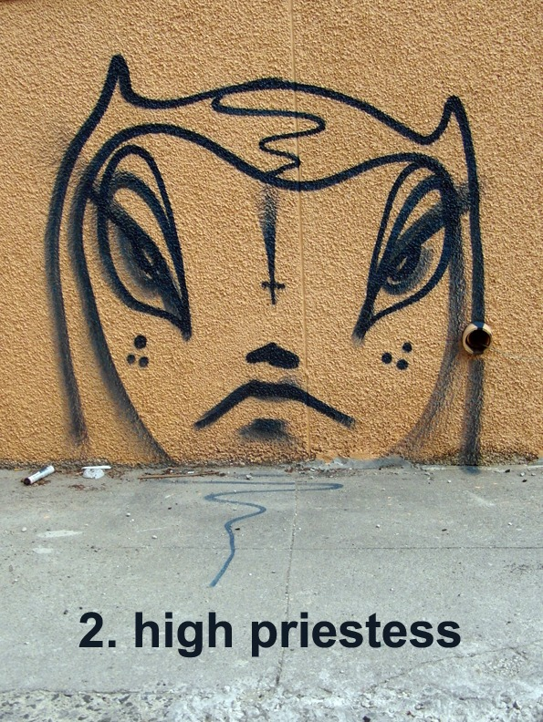 #2 The High Priestess - Toronto Graffiti Tarot