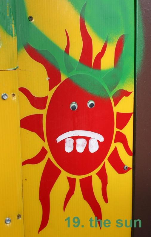 #19 The Sun - Toronto Graffit Tarot