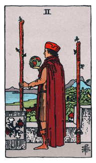 2 of Wands - Rider Waite Smith Tarot