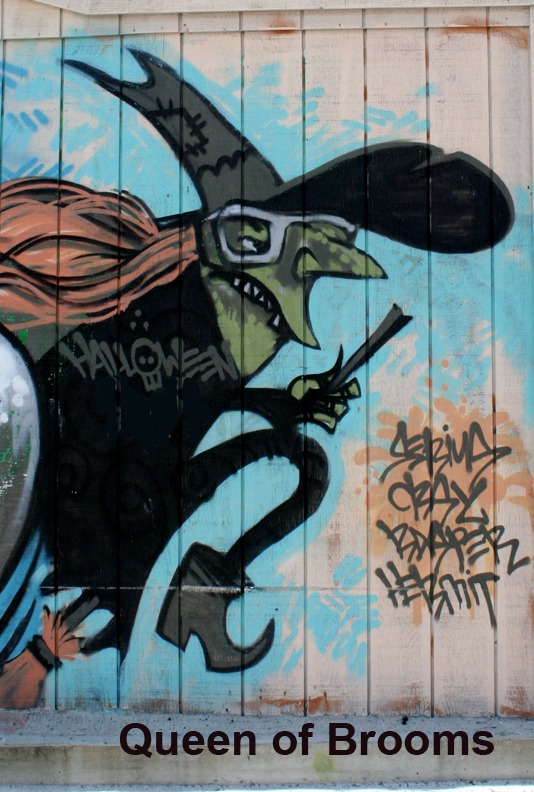 Queen of Wands (Brooms) - Toronto Graffiti Tarot