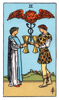 2 of Cups - Rider Waite Smith Tarot