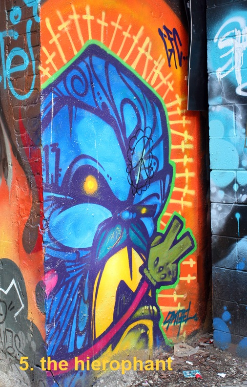 #5 The Hierophant - Toronto Graffiti Tarot