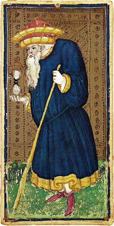 #9 The Hermit - Visconti Tarot