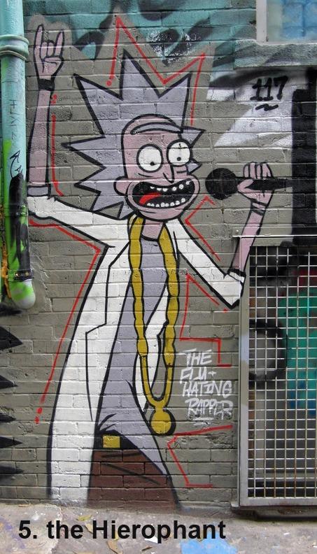 #5 the Hierophant - Toronto Graffiti Tarot