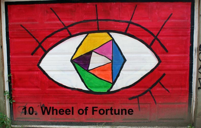 #10 Wheel of Fortune - Toronto Graffiti Tarot