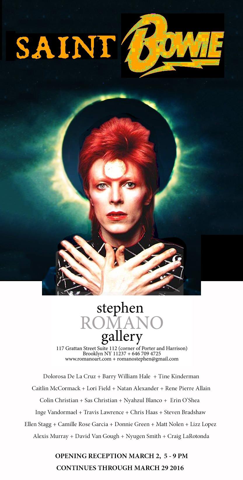 Saint Bowie - Stephen Romano Gallery