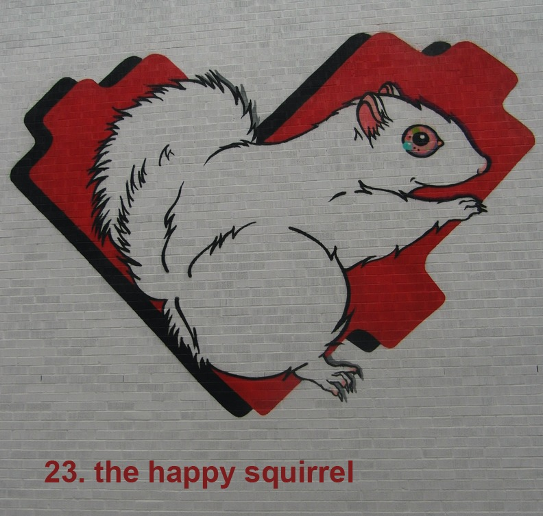 #23 - The Happy Squirrel - Toronto Graffiti Tarot