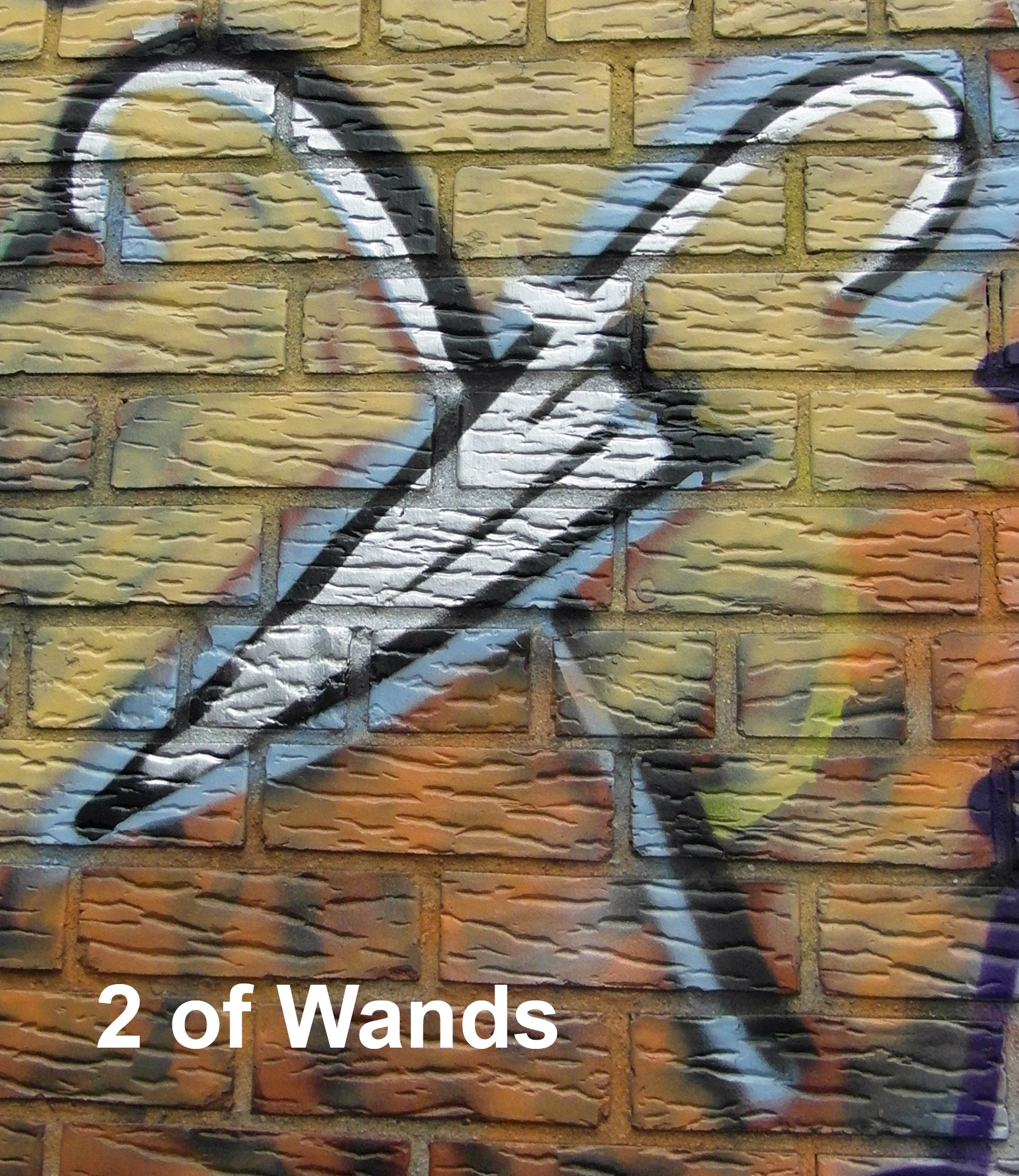 2 of Wands - Toronto Graffiti Tarot