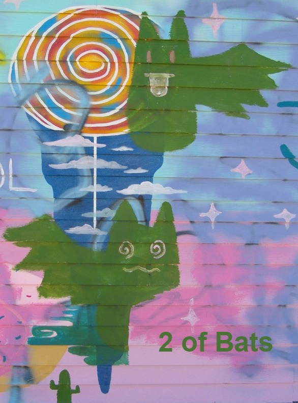 2 of Bats - Toronto Graffiti Tarot