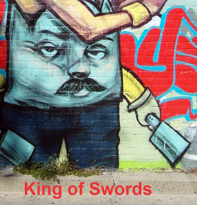 King of Swords (Cleavers) - Toronto Graffiti Tarot