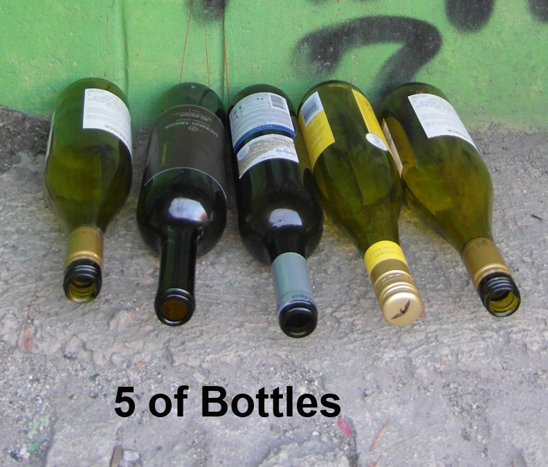 5 of Cups (Bottles)