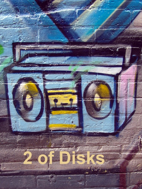 2 of Disks - Toronto Graffiti Tarot