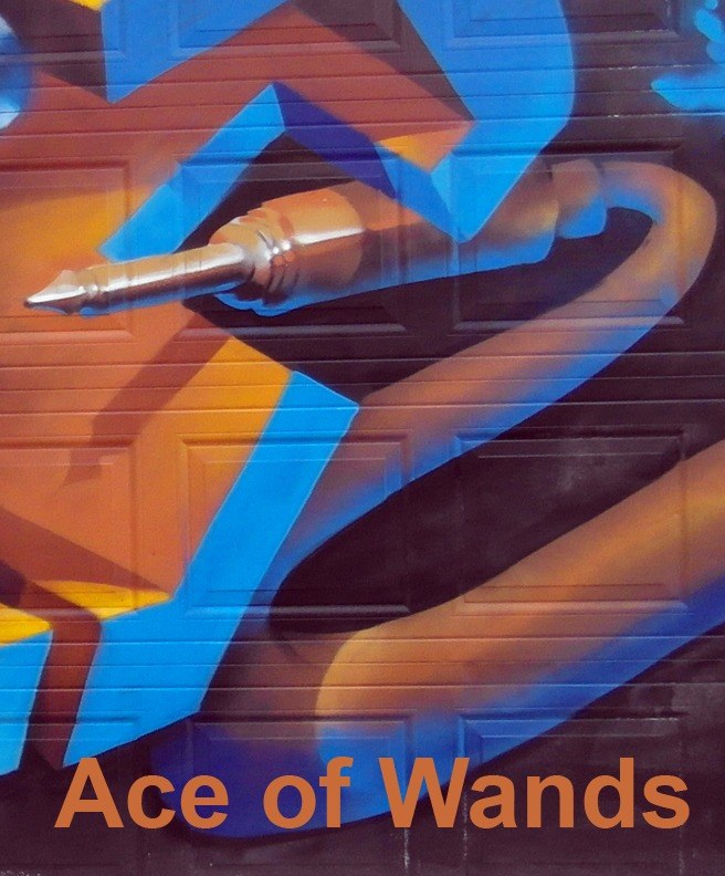 Ace of Wands - Toronto Graffiti Tarot
