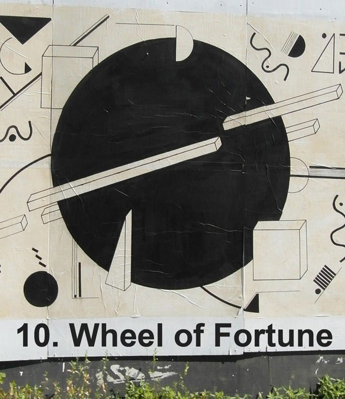 #10 Wheel of Fortune - Toronto Graffiti Tarot