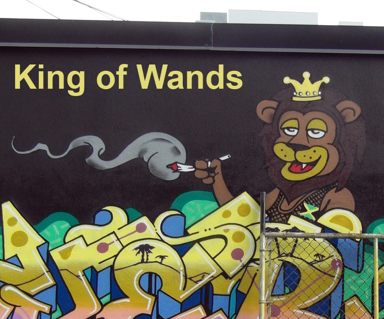 King of Wands - Toronto Graffiti Tarot