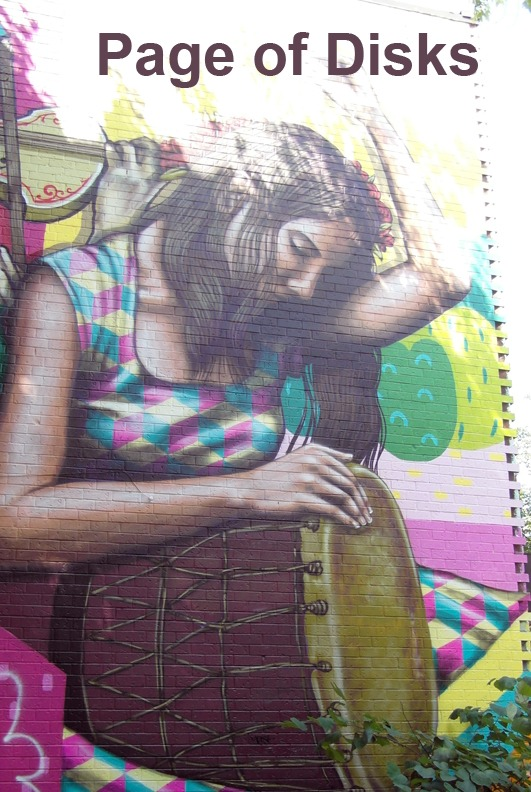 Page of Disks - Toronto Graffiti Tarot
