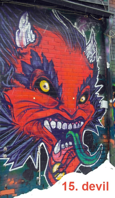 #15 The Devil - Toronto Graffiti Tarot