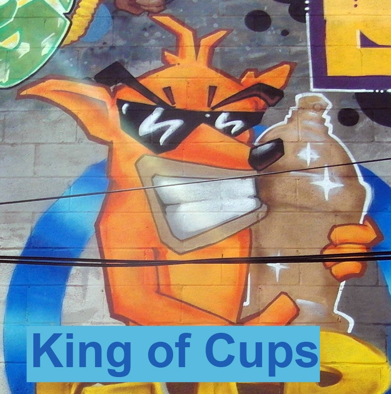 King of Cups - Toronto Graffiti Tarot