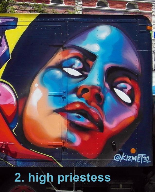 #2 High Priestess - Toronto Graffiti Tarot