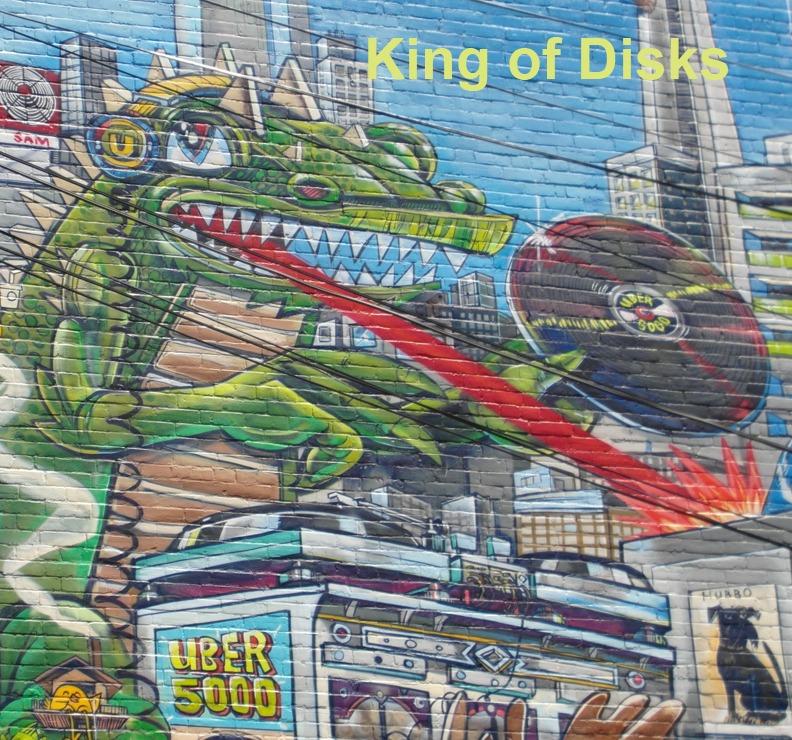King of Disks - Toronto Graffiti Tarot