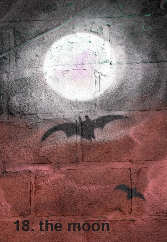 #18 The Moon - Toronto Graffiti Tarot