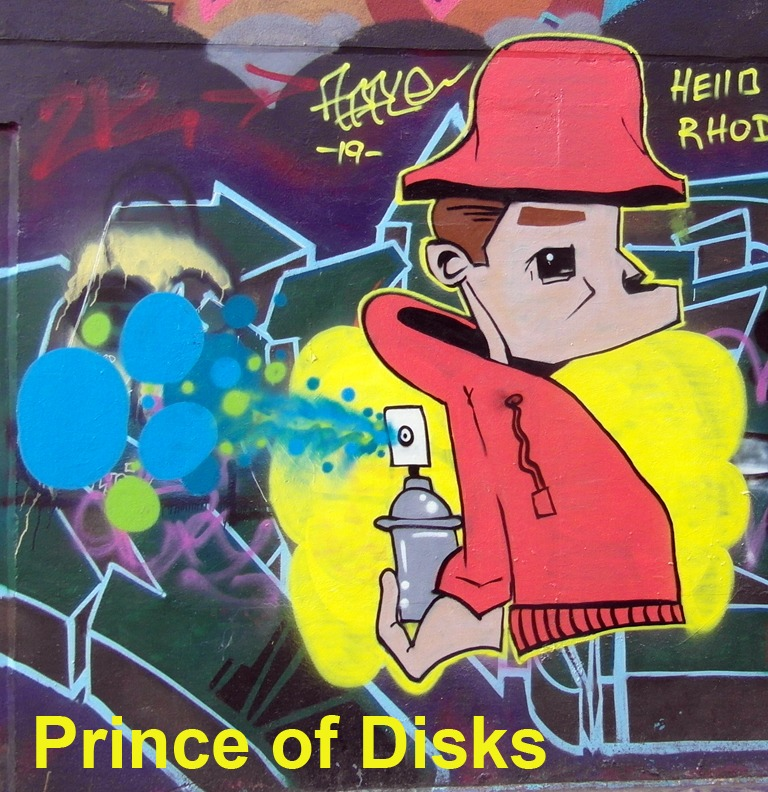 Prince of Disks - Toronto Graffiti Tarot