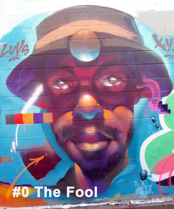 #0 The Fool - Toronto Graffiti Tarot