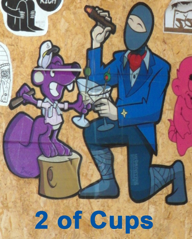 2 of Cups - Toronto Graffiti Tarot