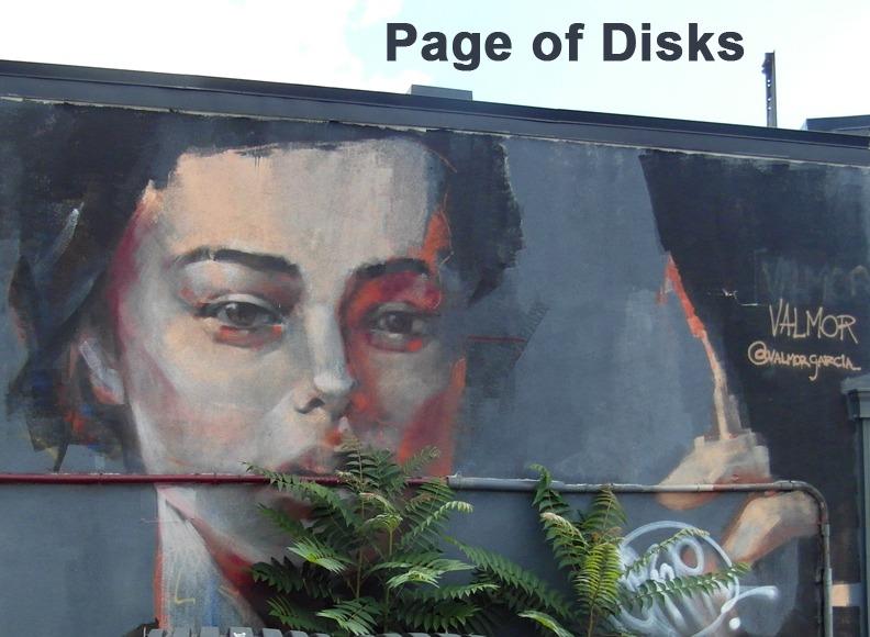 Page of Disks - Toronto Graffiti Tarot