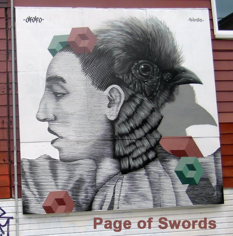 Page of Swords - Toronto Graffiti Tarot