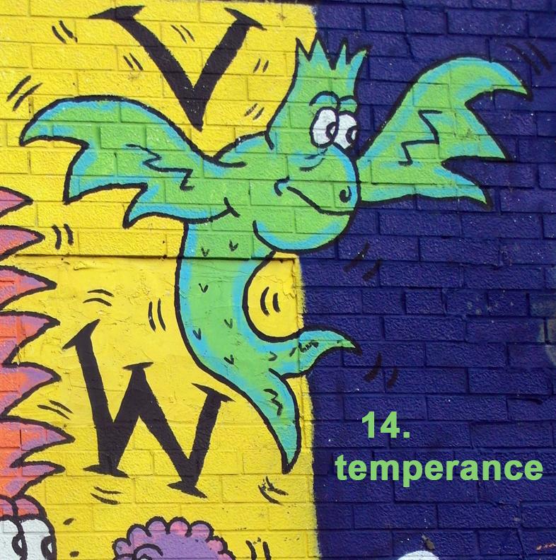 #14 Temperance - Toronto Graffiti Tarot